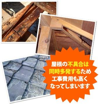 屋根の不具合は同時多発し工事費用も高くなってしまう