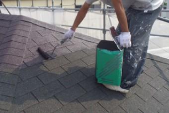 屋根塗装の様子