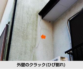 外壁のクラック(ひび割れ)