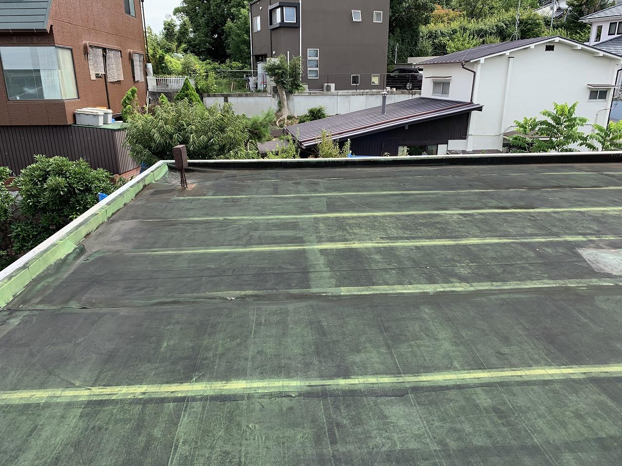 茨木市陸屋根シート防水