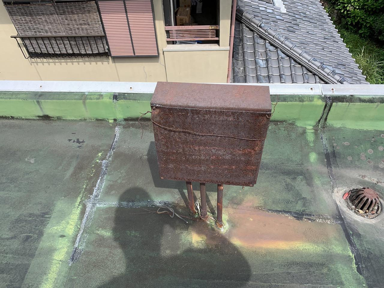 茨木市陸屋根電気盤