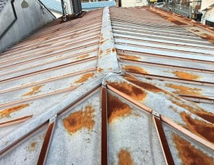 瓦棒屋根 施工前