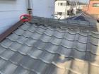 守口市 釉薬瓦屋根の棟部熨斗瓦の欠落