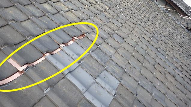 銅板で補修