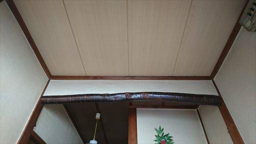 張り替え後天井