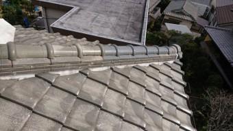 棟のノシ瓦と丸瓦の補修完了です。