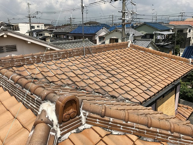 屋根全体で、ラバーがされてます