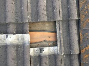 下葺材のハイトンが縮んでます。