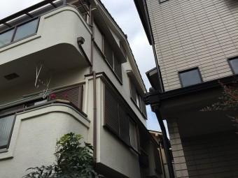 3階建住宅の屋根調査は大変です。