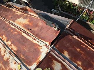 ガレージ屋根解体