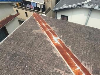 棟包板金も錆び錆びです。
