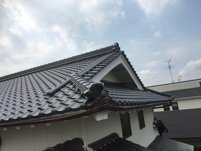 鶴弥の防災和型瓦 屋根葺き替え後