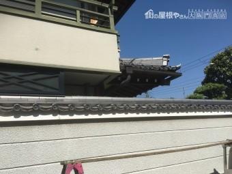 塀の瓦完成写真1