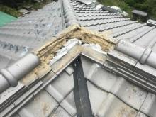 棟瓦積み状況