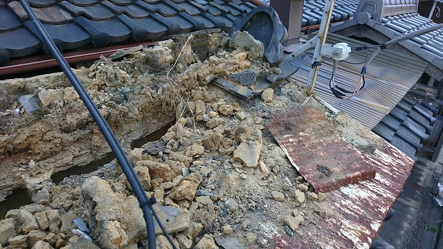 屋根解体工事
