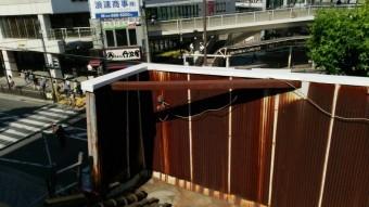 白い笠木板金の工事完了です。