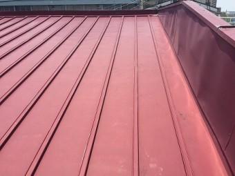 瓦棒葺の流れの長い屋根です。