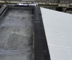 塔屋陸屋根の防水工事施工前