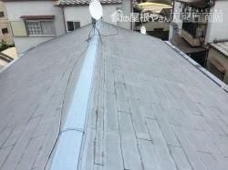施工前屋根の状態、屋根材はカラーベスト