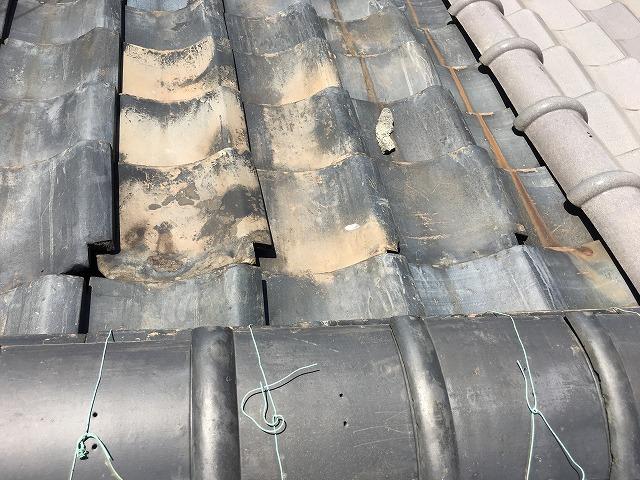 裏側の屋根瓦状態