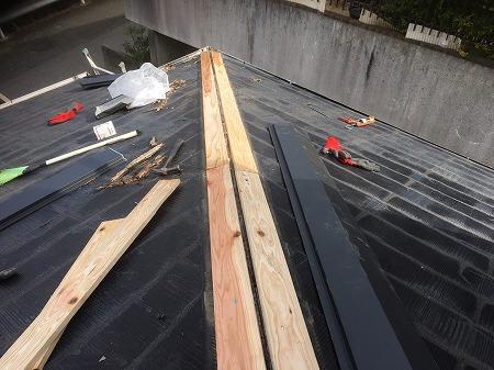 新しい貫板を設置