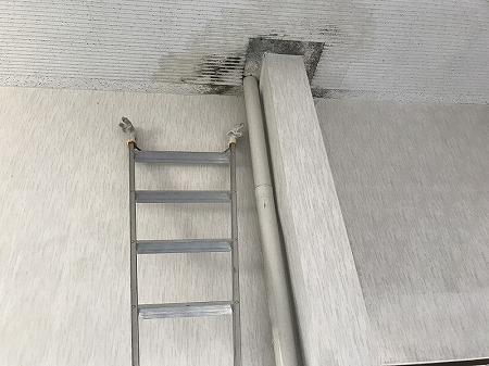 竪樋が室内を貫通しております。