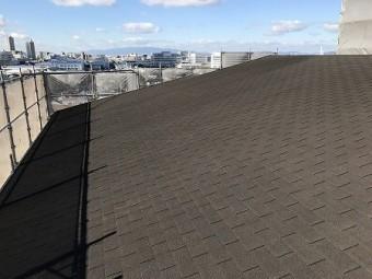 シングル屋根の点検です。