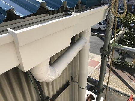 樋も前高130Wで掛け替えました。