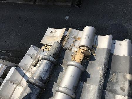 上から見ると、その損傷がわかります。