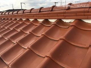 釉薬瓦屋根調査