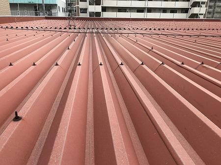 折板屋根の状態は悪くありません。