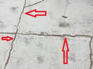 雨漏り修理 屋上防水層亀裂