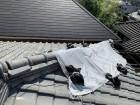 台風21号での被害で棟瓦が崩れてしまっています。
