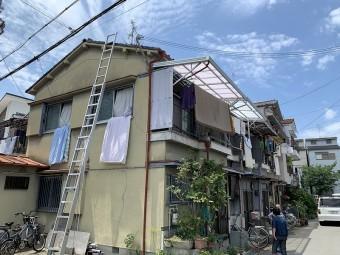 連棟屋根の屋根調査をします。