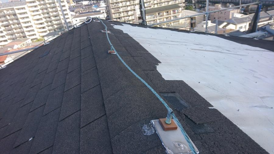 門真市8階建て屋根改修前