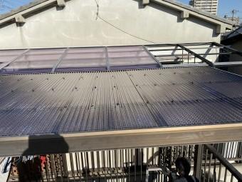 クロスラインの波板張替工事完了