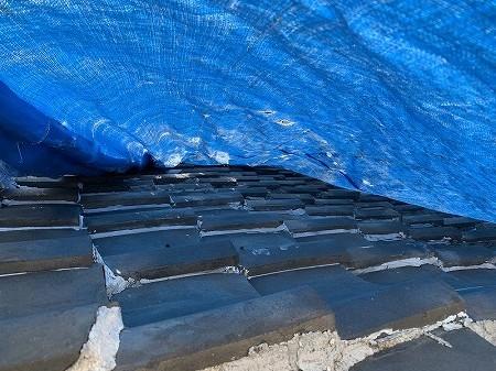 桟瓦の側面にも漆喰が塗られております。