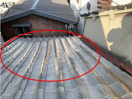 守口市 釉薬瓦屋根の調査