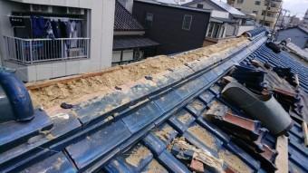 棟ののし瓦解体