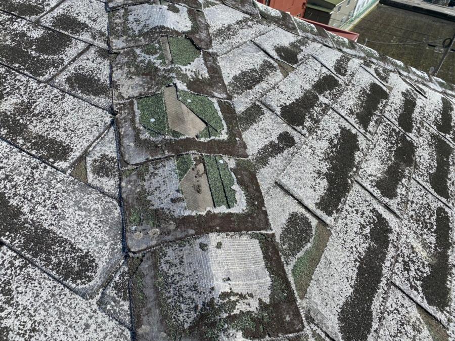 守口市 棟部分の屋根調査