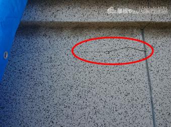 寝屋川市 地震の影響で塀に亀裂
