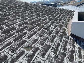 守口市 アスファルトシングル材屋根の劣化状況