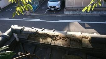 コーナーの棟のズレた部分も一部解体します。