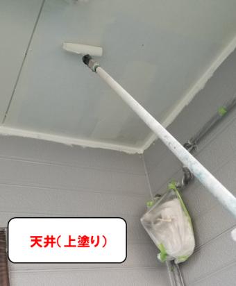 天井(上塗り)