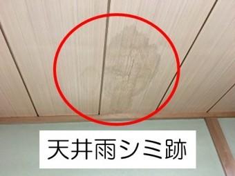天井雨シミ跡