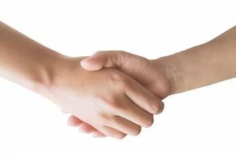 信頼の握手 素材