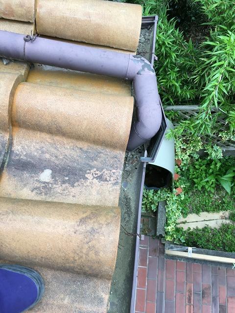 玄関樋の詰まり