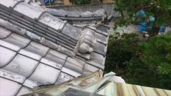 茨木市下屋根銅板部分