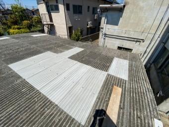 スレート屋根施工完了