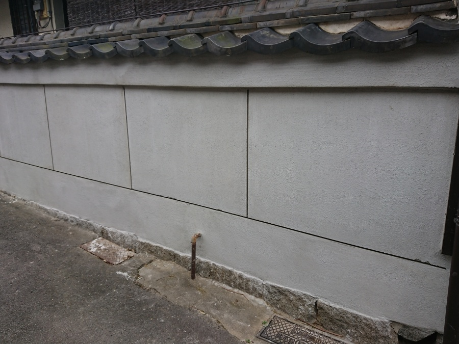 寝屋川市 裏塀工事完了